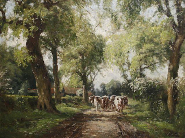 Willem Maris - Vee op landelijke laan