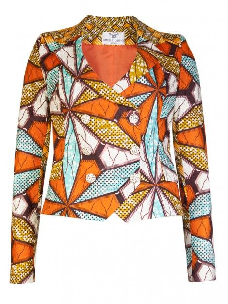 GIFTY- LADIES AFRICAN PRINT BLAZER
