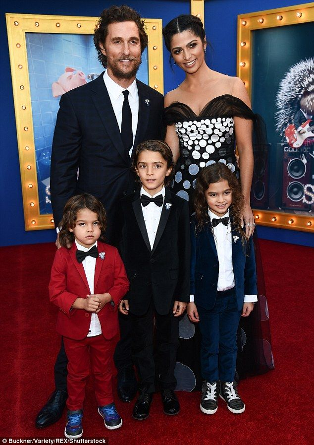 What a gorgeous family! On Saturday, Matthew McConaughey and his wife, Camila Alves, brought their three children to the premiere of Universal Pictures' Sing in Los Angeles