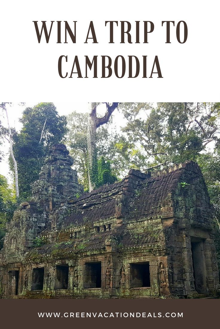 Cambodia Trip Sweepstakes - win a trip to Cambodia including airfare, three night stay, gift card and more. | Cambodia Travel | Travel Sweepstakes & Giveaways #cambodia