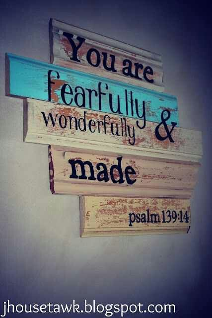 Beautiful way to hang a quote in a baby's room.  I love the colors in the old wood.  www.rehouseny.com