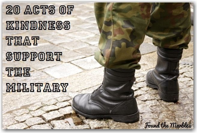 Random acts of kindness that benefit the military...A must see