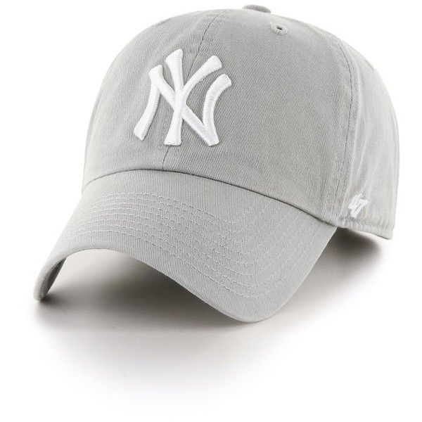 Women's 47 Brand Ny Yankees Baseball Cap ($25) ❤ liked on Polyvore featuring accessories, hats, grey, gray hat, '47 brand, ny yankees baseball cap, yankees ball cap and new york yankees hat