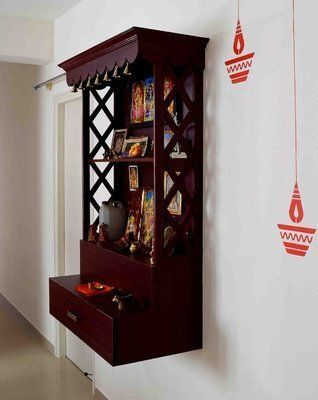 pooja unit on wall