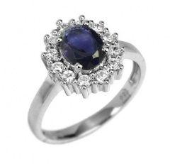 Nadčasový stříbrný prsten s přírodním iolitem - jako pro princeznu! :-)