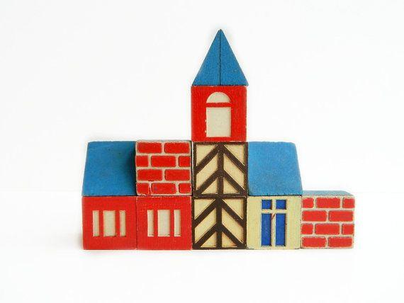 scandinavian cottage style blocks vintage
