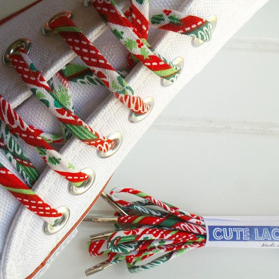 Holiday Shoelaces Seasonal cutelaces Christmas shoe laces