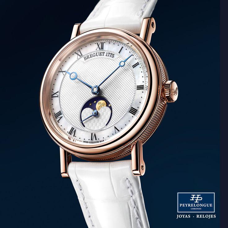 #TiempoPeyrelongue  Con su Classique Phase de Lune Dame, Breguet añade a su colección de relojes para señora una pieza de una elegancia atemporal. La pureza de sus líneas refleja fielmente las características inherentes al origen del éxito de la Casa desde hace más de 240 años.