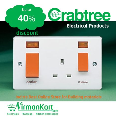 Buy #Crabtree #Electrical products for #best #price at #NirmanKart.com  https://www.nirmankart.com/buy/electrical/crabtree  Browse #NirmanKart.com for more #Electrical Products and #best #deals  #Shop #Crabtree #Electrical products like #cables and #wires, #lights, #modular #accessories, #mcb's and #switch gears and much more in #Electrical Products online for best price.