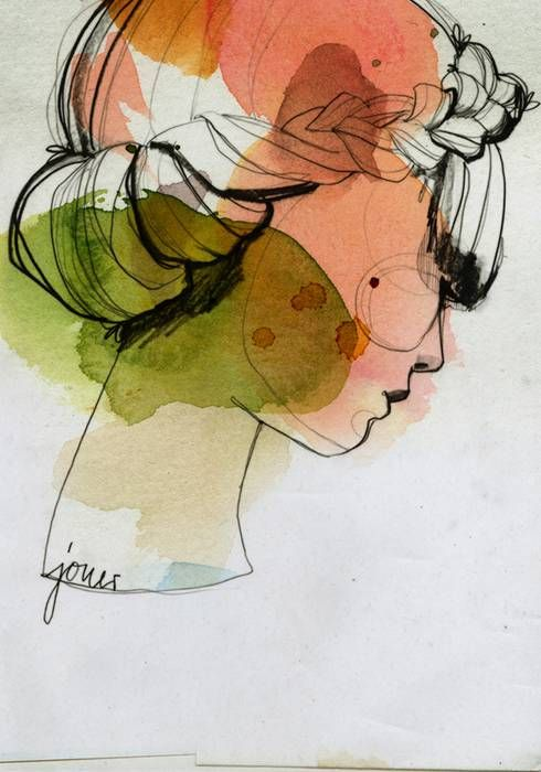 Ekaterina Koroleva: Line Drawings, Watercolor Paintings, Ekaterinakoroleva, Watercolor And Ink, Graphics Design, Water Colors, Ekaterina Koroleva, Fashion Illustrations, Watercolor Illustrations
