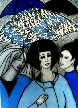 Flying Umbrellas  Artist: Miller, Noel  Artwork title: Flying Umbrellas  Price: $890