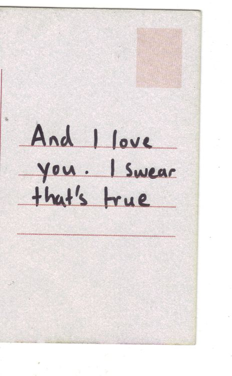 and i love you. i swear that's true ♡