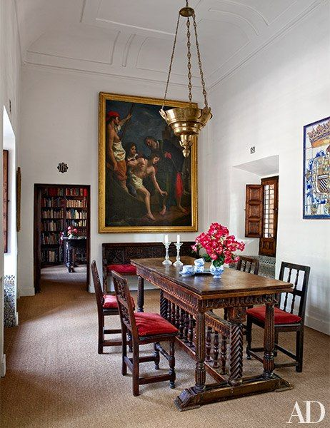 A Noble Spanish Family Restores Its Ancestral Home. Antique Dining  RoomsDining Room FurnitureTable ...
