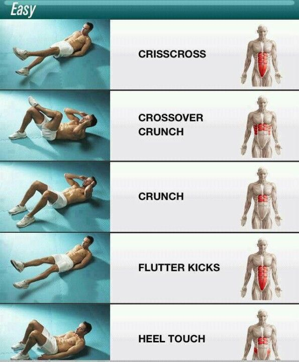 Ab Workout! 25 reps of each one and do 3-5 sets! It burns!