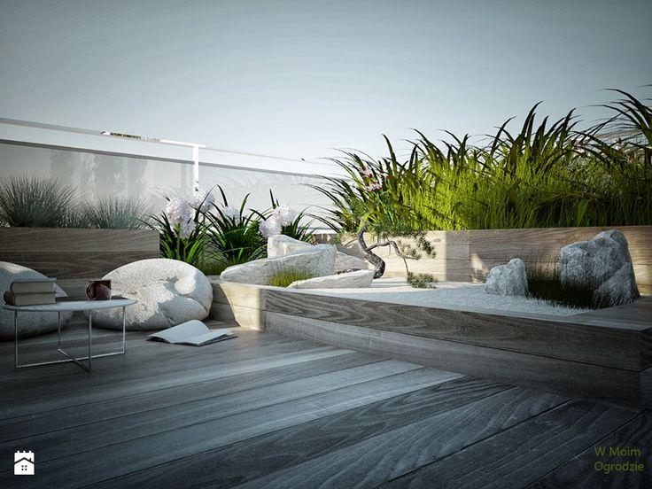 Ogród na dachu. Warszawa Ogród - zdjęcie od w Moim Ogrodzie