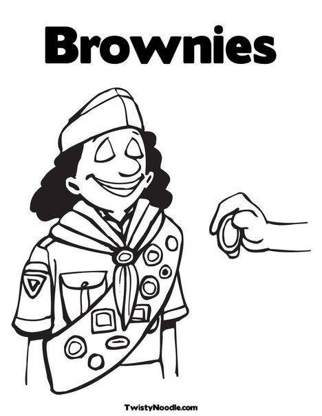 chocolate brownie coloring pages - photo#17