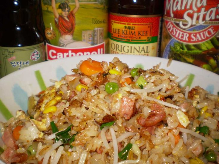 CHONG'S HAM FRIED RICE - This is the closest recipe to Chong's Ham Fried Rice I've tried.  Just omit the carrots and peas, and add 1 cup bean sprouts (I think he left that off his ingredient list, but I see them in his photo).  Follow his directions exactly and it will be great.