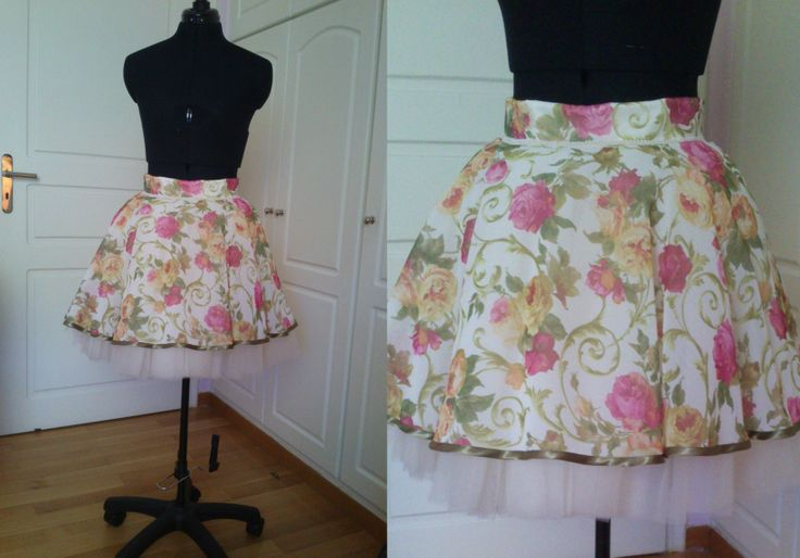 Summer Floral Tulle Skirt