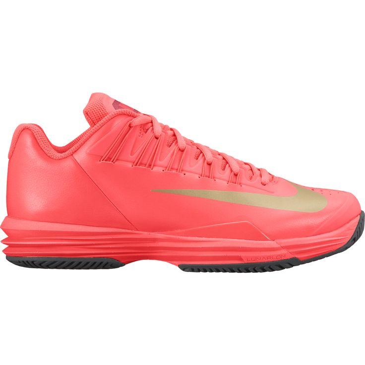 Nike Lunar Ballistec 1.5 Women's Tennis Shoe Hot Lava / Gold