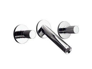 3 hole wall-mounted washbasin tap AXOR STARCK | Wall-mounted washbasin tap - HANSGROHE