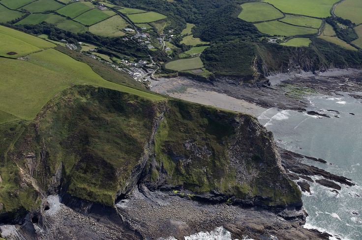 Pencannow Point next to Crackington Haven in north Cornwall - aerial image | by John Fielding #crackingtonhaven #pencannow #aerial #cornwall #cornish