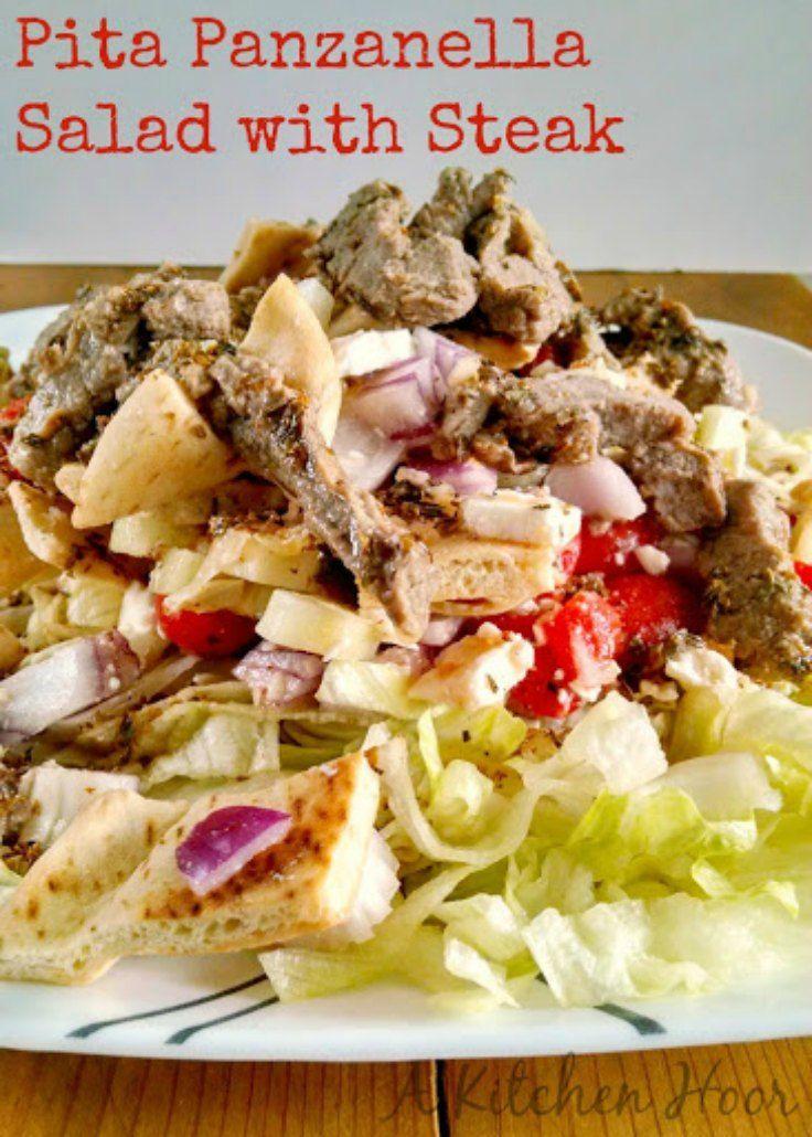 Pita Panzanella Salad with Steak {Guest Post} | A Dish of Daily Life