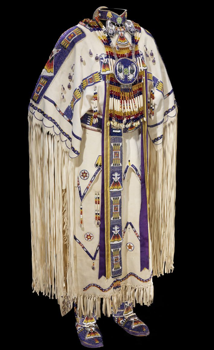 This is not a Kiowa buckskin but the sleeves beadwork is similar to my grandmothers. Just wanting to see it .Native American clothing