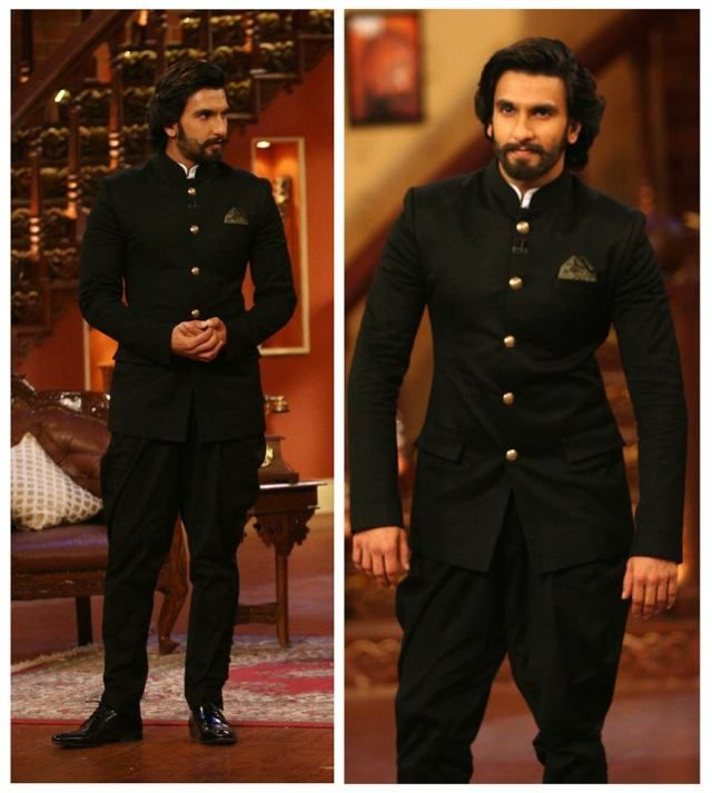 Ranveer Singh in Sabyasachi — All black