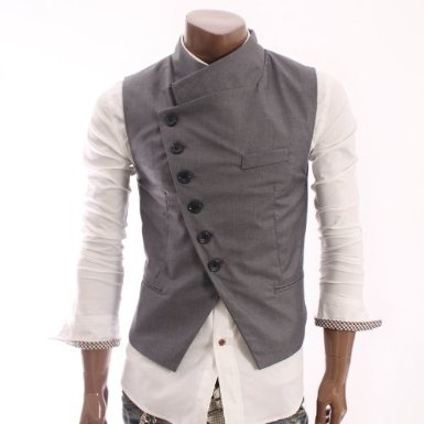Asymmetrical vest. I need one of these.
