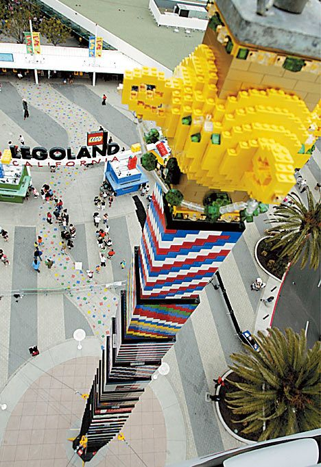 The world's tallest LEGO tower was 94 feet high a utilized 465,000 bricks. | 20 Things You Might Not Know About LEGO