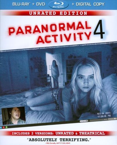 Paranormal Activity 4 [Unrated Director's Cut] [Blu-ray/DVD] [Includes Digital Copy] [Ultraviolet] [2012]