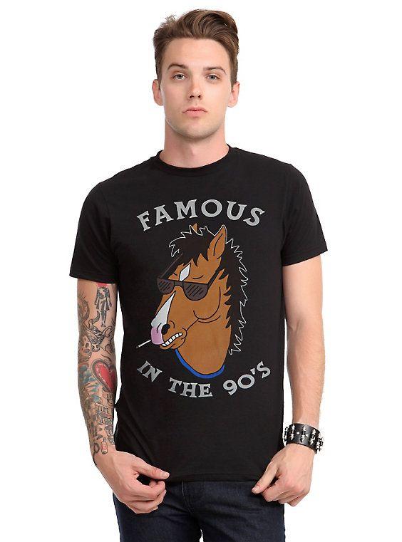 BoJack Horseman Famous In The 90's T-Shirt, BLACK