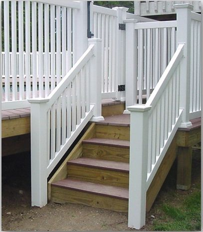 Vinyl railing is a maintenance free alternative to wood for Alternative to decking