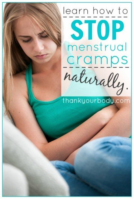 Stop menstrual cramps naturally with these menstrual cramp remedies. www.thankyourbody.com