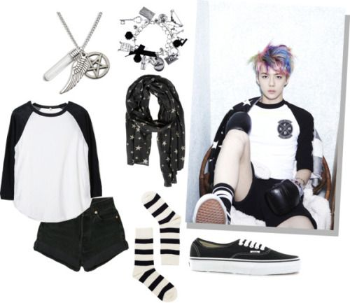 "Outfit inspired by: Sehun's teaser photo for EXO's ""XOXO"" album Requested by: Anonymous Please send your requests! — I will not believe in their comeback until I see 20 teasers with Kai."