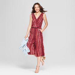 92f693ca96b Women s Stripe Jumpsuit - Universal Thread™ Red