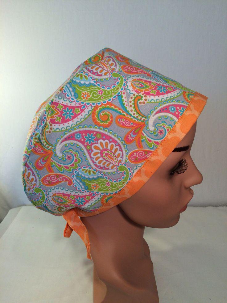 A personal favorite from my Etsy shop https://www.etsy.com/listing/242018825/pixie-surgical-scrub-cap-scrub-hat-nurse