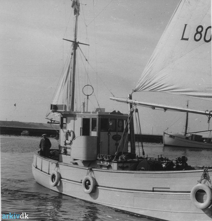 arkiv.dk | Kutter L. 80 Christian Rønn, Lemvig, 1959., Lemvig.