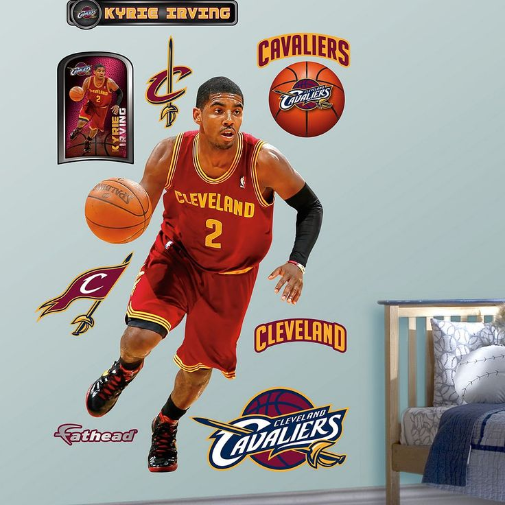 Fathead Cleveland Cavaliers Kyrie Irving Wall Decals, Multicolor