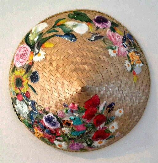 3D Decoupage On Caping Topi Pak Tani