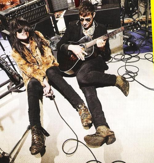 I have to say, my boot and jean purchases for the better part of two years have been almost exclusively informed by images such as this of Jamie Hince and Alison Mosshart.