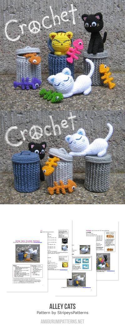 Amigurumi alley cats crochet pattern