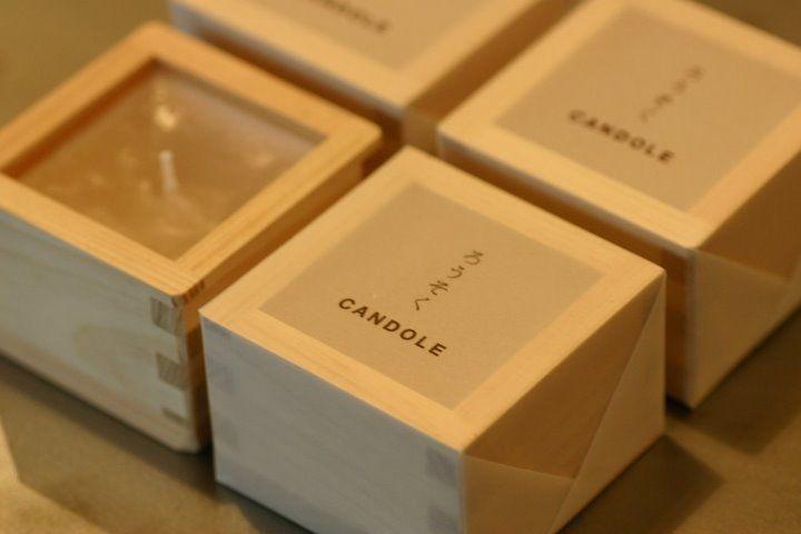 ヒノキ枡のアロマキャンドル|シュロ - デザイン 雑貨 OEM