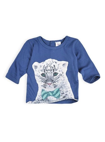 Snow leopard with bow-tie long sleeve shirt. was $13, sale $8. Only size 0-3m.