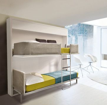 Ideal for parents whose kids split time between homes, or for accommodating occasional guests, this stylish bunk bed sleeps two comfortably....