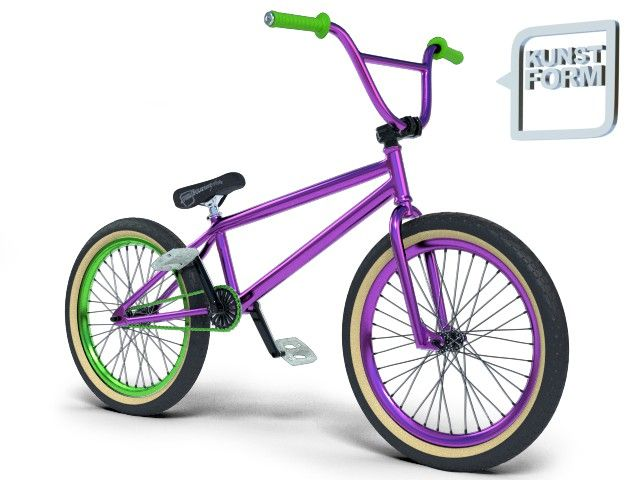 Black BMX purple green 2014 Custom BMX Bike