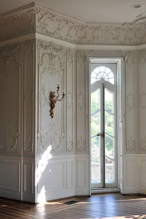 Stunning Interior Trim And Ornate Plaster Walls Reminiscent Of A