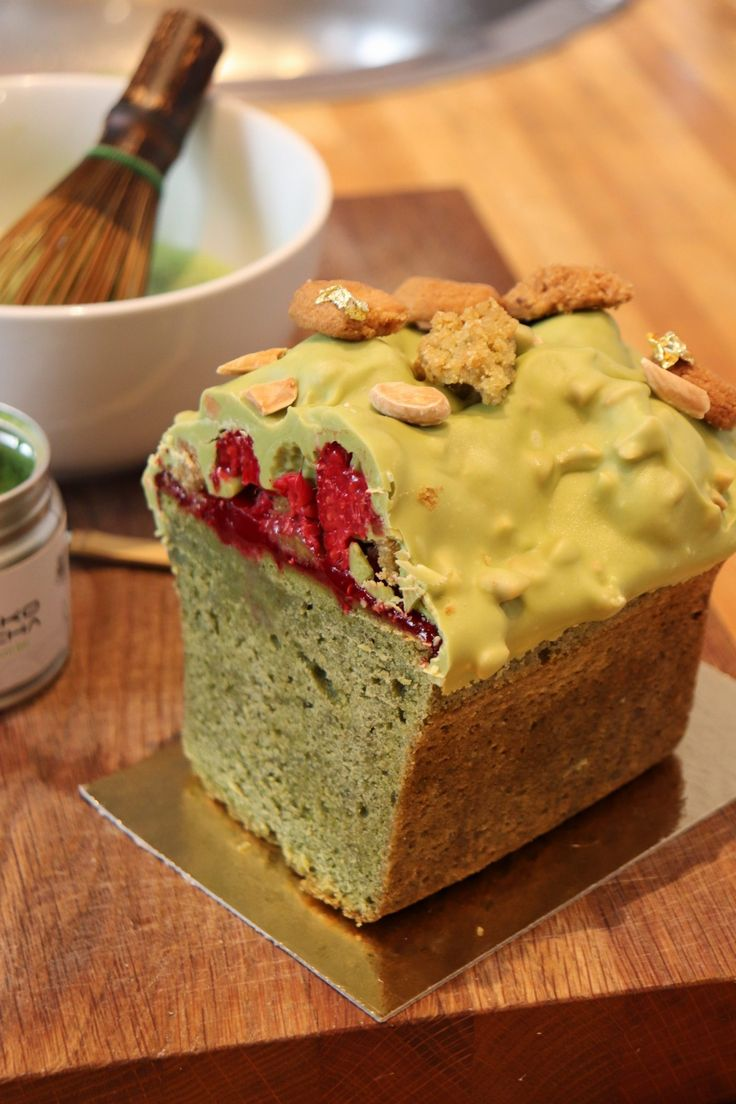Gâteau de voyage Matcha-Framboise - Olivia Pâtisse