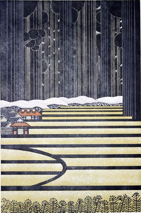 Japanese print by Ray Morimura