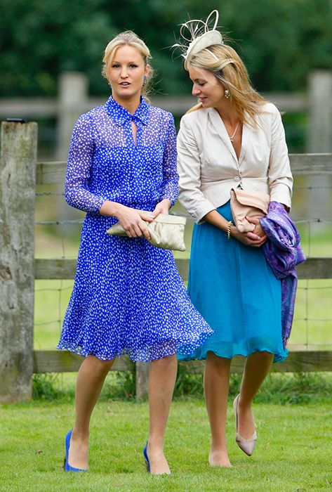 lady melissa van straubenzee attends the wedding of james meade and lady laura marsham at the parish church of st nicholas in gayton on september 14 (473×700)